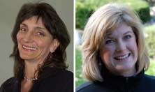 Supporting: Laurie Ellis Young, left, and Heather Reade will lead workshops on Grief and Loss.