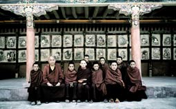 Young monks in school at the Hemis Monastery in Ladakh, North India