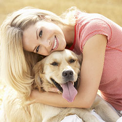 dog_woman_smile