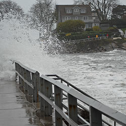 Most Earth scientists agree that future sea levels will rise at a greater pace than during the last 50 years. Coastal communities will suffer the most, as flooding from rising water levels will force millions of people out of their homes. Pictured: flooding in Marblehead, MA, caused by Hurricane Sandy on October 29, 2012. | Credit: The Berkes