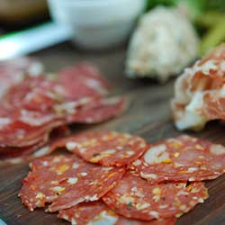 Photo: Alpha, Flickr CC That salami on your plate might look scrumptious, but Environmental Working Group warns it may contain nitrates linked to cancers of the stomach, esophagus, brain and thyroid.