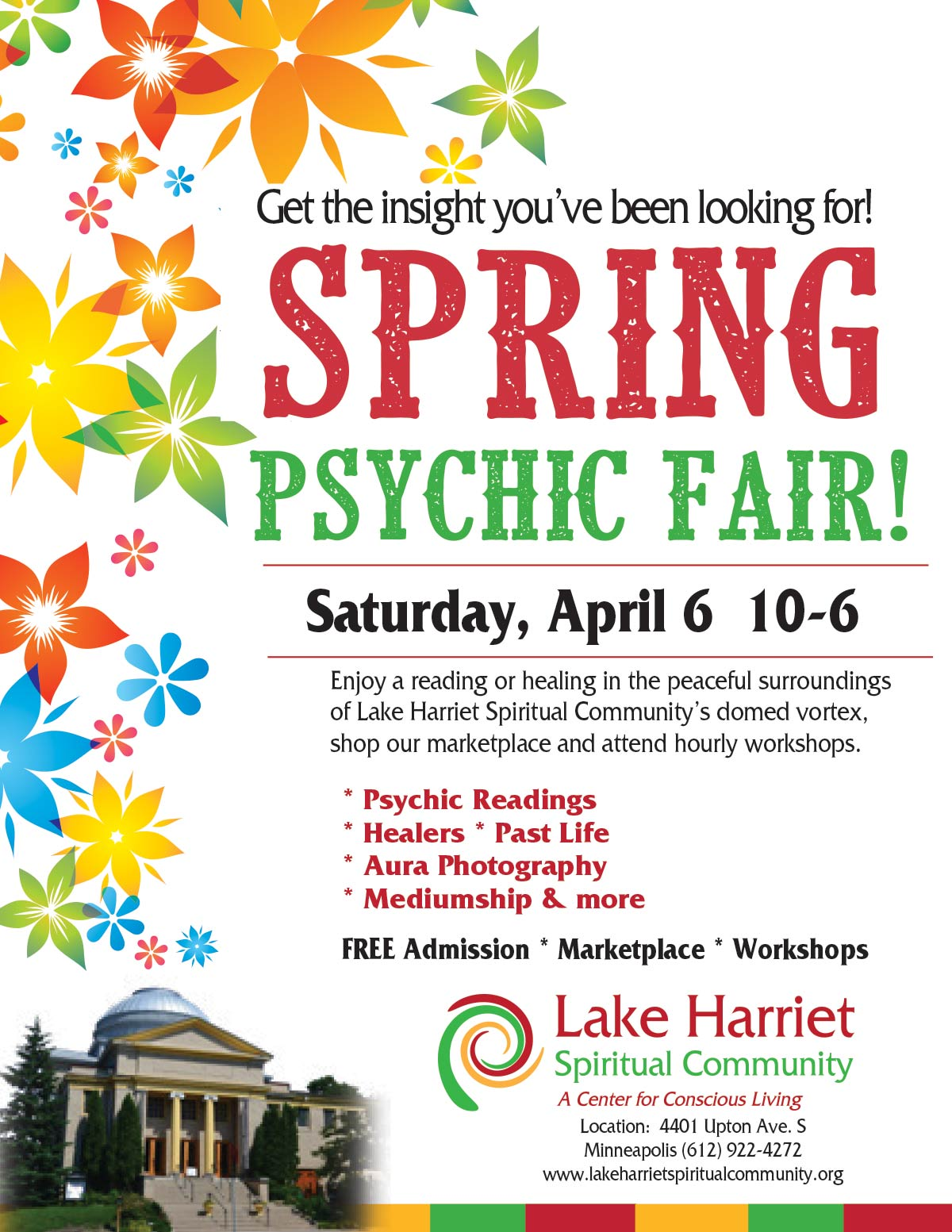 Lake Harriet Spiritual Community Spring Psychic Fair @ Lake Harriet Spiritual Community | Minneapolis | Minnesota | United States