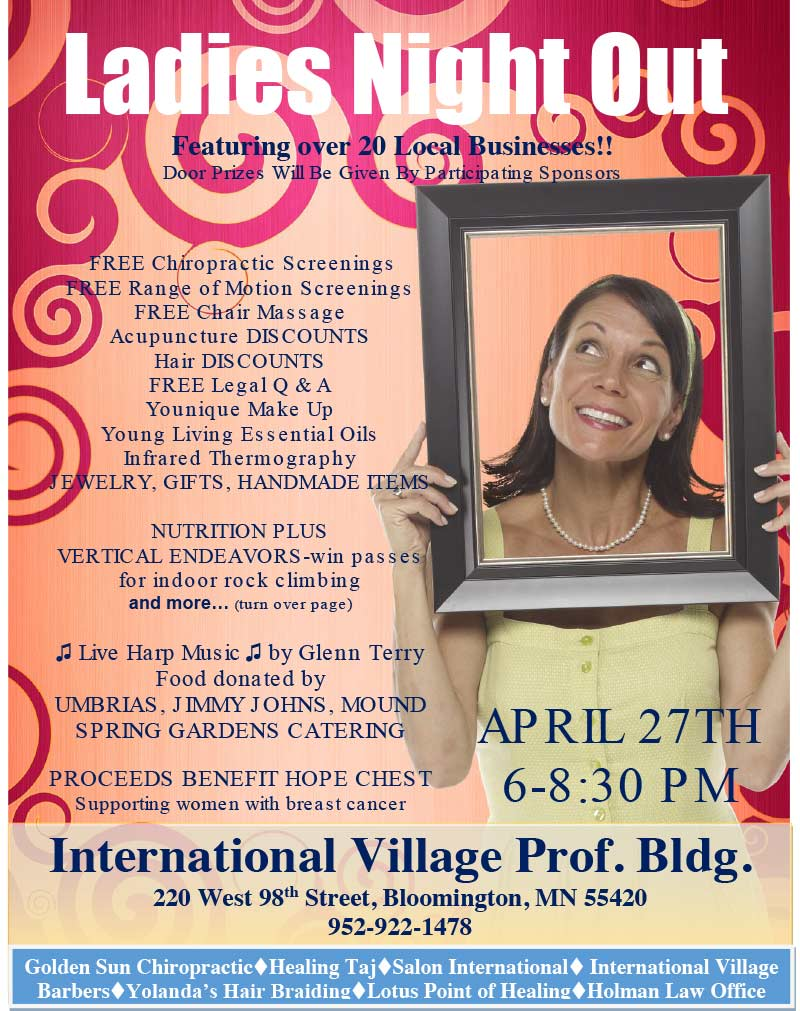 Ladies Night Out benefit for Hope Chest @ International Village Professional Building | Bloomington | Minnesota | United States