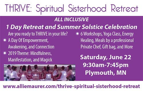 THRIVE: Spiritual Sisterhood Retreat-Mindfulness, Manifestation and Magick @ Clifton E. French Park | Plymouth | Minnesota | United States