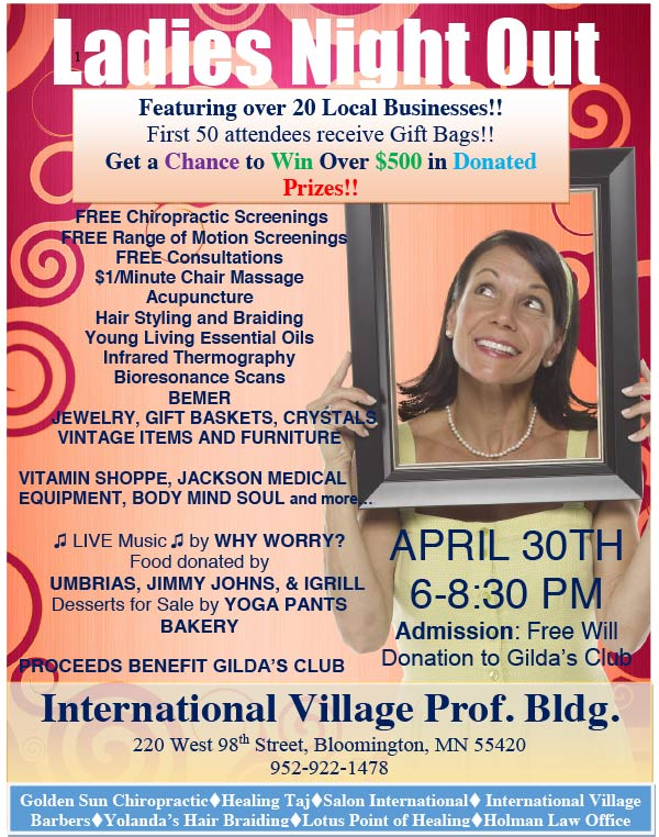 3rd Annual Ladies Night Out Event @ International Village Professional Building | Bloomington | Minnesota | United States