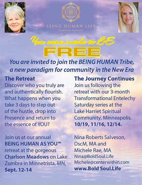 Being Human Life Retreat @ Charlson Meadows | Victoria | Minnesota | United States