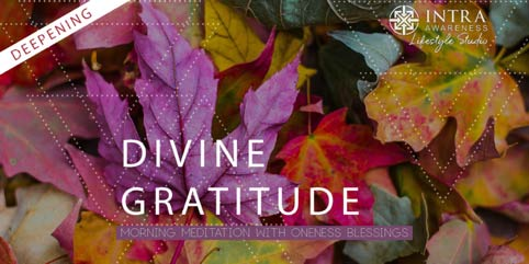 Deepen Divine Gratitude | Guided Meditation with Oneness Blessings @ IntraAwareness Lifestyle Studio | Minneapolis | Minnesota | United States