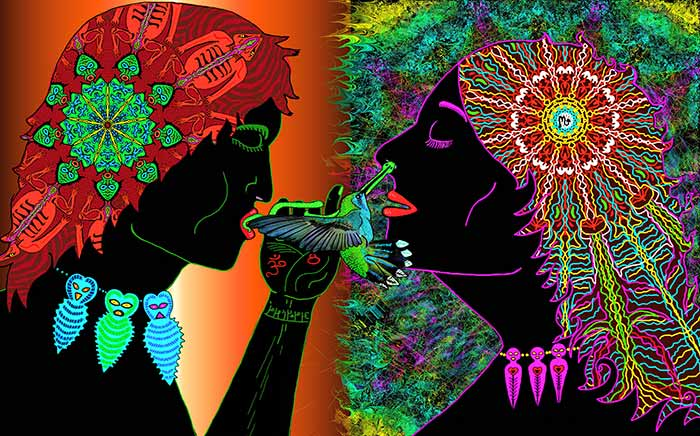 """""""Interdimensional Kiss""""  © J. Myztico Campo"""