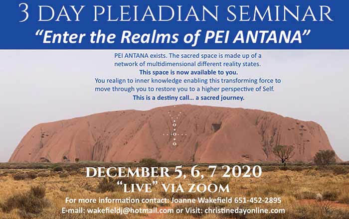 "3 Day Pleiadian Seminar ""Live"" via Zoom"