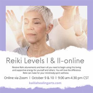 Reiki Levels l & ll: Live Online @ Live online via Zoom